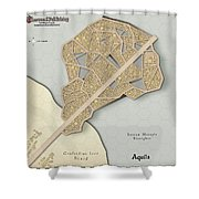 Village Of Aquila Shower Curtain