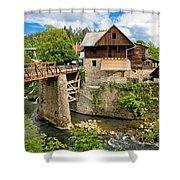 Village Of Rastoke River Canyon Shower Curtain