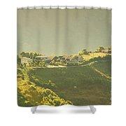 Village On Mountain Shower Curtain