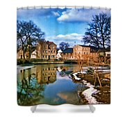Village Reflections Shower Curtain