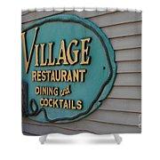 Village Restaurant Shower Curtain
