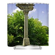 Village Sign For Linton - Derbyshire Shower Curtain