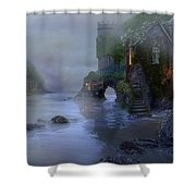 Villages By The Foggy Sea II Shower Curtain