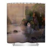 Villages By The Foggy Sea   Shower Curtain