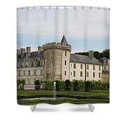 Villandry Chateau And Boxwood Garden Shower Curtain