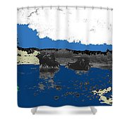 Villa's Car Pulled By Horse Riders Durango 1922-2013 Shower Curtain