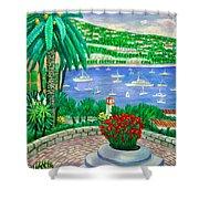 Villefranche Sur Mer---cote-d'azur Shower Curtain