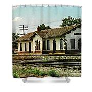 Villisca Train Depot Shower Curtain
