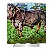 Vince The Bull Shower Curtain