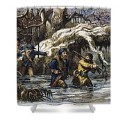 Vincennes: March, 1779 Shower Curtain by Granger