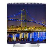Vincent Thomas Bridge - Nightside Shower Curtain