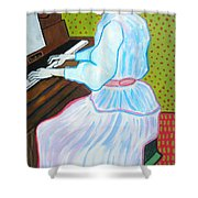 Vincent Van Gogh's Marguerite Gachet Playing At The Piano Shower Curtain