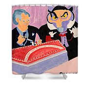 Vincent Price's Birthday Shower Curtain