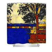 Vincent's Japanese Garden Shower Curtain