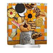 Vincent's Sunflower Cookie Jar Shower Curtain