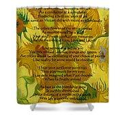 Vincent's Sunflower Song Shower Curtain