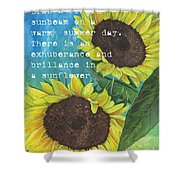 Vince's Sunflowers 1 Shower Curtain by Debbie DeWitt