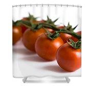 Vine Cherry Tomatoes Shower Curtain