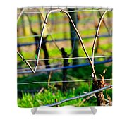 Vines On Wire 22637 Shower Curtain
