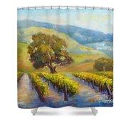 Vineyard Gold Shower Curtain
