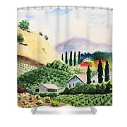 Vineyard Shower Curtain