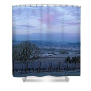 Vineyard Morning Light Shower Curtain