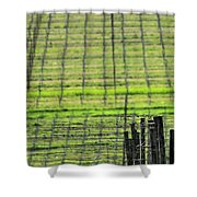 Vineyard Poles 23051 2 Shower Curtain