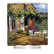 Vineyard Villa Shower Curtain