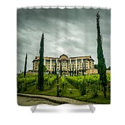 Vineyards And Chateau Shower Curtain