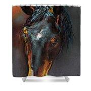 Vinnie Mustang Love Shower Curtain
