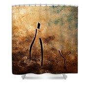 Vino De Arte Moderno Shower Curtain