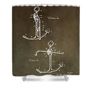 Vintage 1902 Anchor Patent Shower Curtain