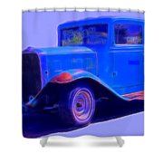 Vintage 1940's Chevrolet Shower Curtain