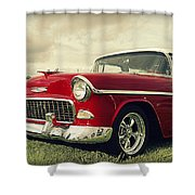 Vintage 1955 Chevy Nomad Shower Curtain