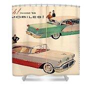 Vintage 1956 Oldsmobile Car Advert Shower Curtain