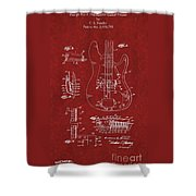 Vintage 1961 Fender Guitar Patent Shower Curtain