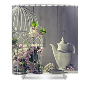Vintage Afternoon Tea Shower Curtain