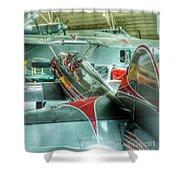 Vintage Airplane Comparison Shower Curtain