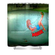 Vintage Airplane Margie Shower Curtain