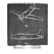 Vintage Airplane Patent Shower Curtain