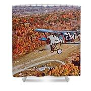 Vintage Airplane Postcard Art Prints Shower Curtain