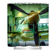 Vintage Airplane Three Shower Curtain