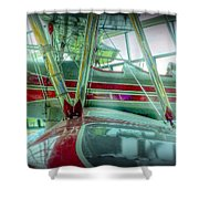 Vintage Airplane Two Shower Curtain