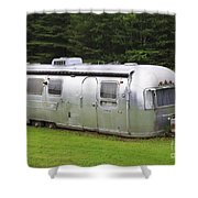 Vintage Airstream Trailer Shower Curtain