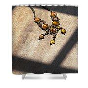Vintage Amber Necklace Shower Curtain