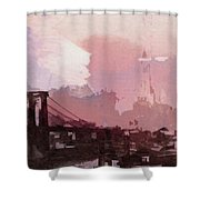 Vintage America Brooklyn 1930 Shower Curtain