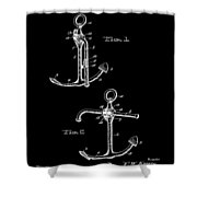 Vintage Anchor Patent Shower Curtain
