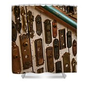 Vintage And Antique Door Knob And Lock Plates Shower Curtain