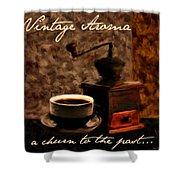 Vintage Aroma Shower Curtain