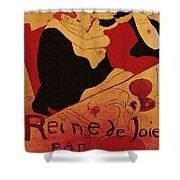 Vintage Art Poster Advertisement Entertainment Toulouse Lautrec 1892 Shower Curtain
